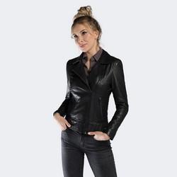 Kurtka damska, czarny, 90-09-204-1-M, Zdjęcie 1