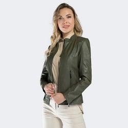 Kurtka damska, khaki, 90-09-206-Z-L, Zdjęcie 1