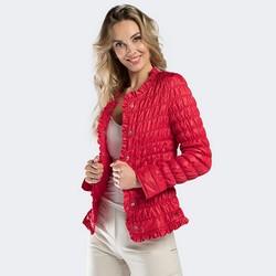 Kurtka damska, czerwony, 90-9N-400-3-2XL, Zdjęcie 1