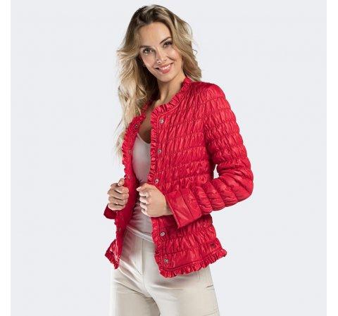 Kurtka damska, czerwony, 90-9N-400-1-XL, Zdjęcie 1