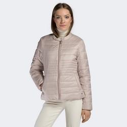 Damska kurtka pikowana ze stójką, jasny beż, 90-9N-401-9-XS, Zdjęcie 1