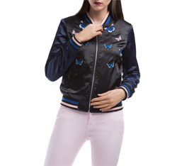 Bomber jacket, black, 84-9N-113-1-L, Photo 1