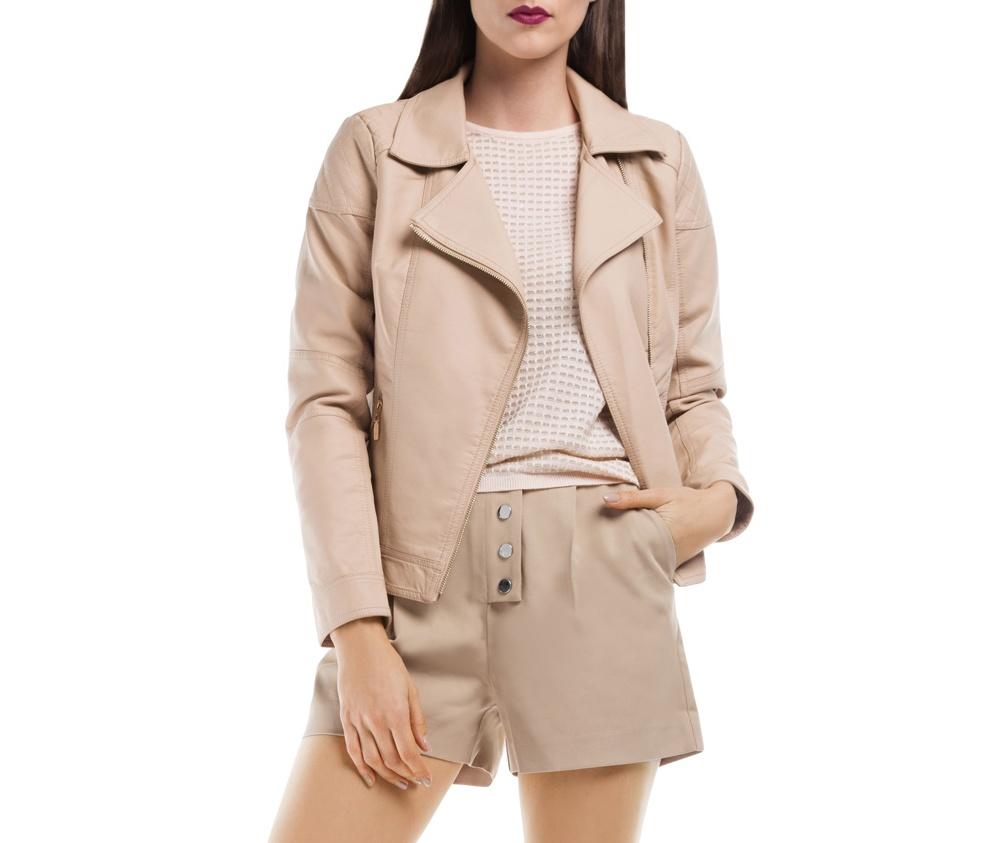 Куртка ЖенскаяКуртка изготовлена ??из высококачественного материала. Модель застегивается на молнию. Куртка очень легкая, и комфортная.<br><br>секс: женщина<br>Цвет: бежевый<br>Размер INT: XL