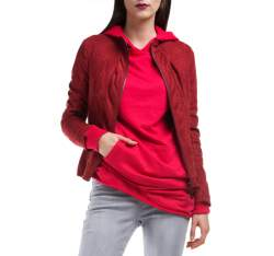 Kurtka damska, czerwony, 84-9P-107-2-M, Zdjęcie 1