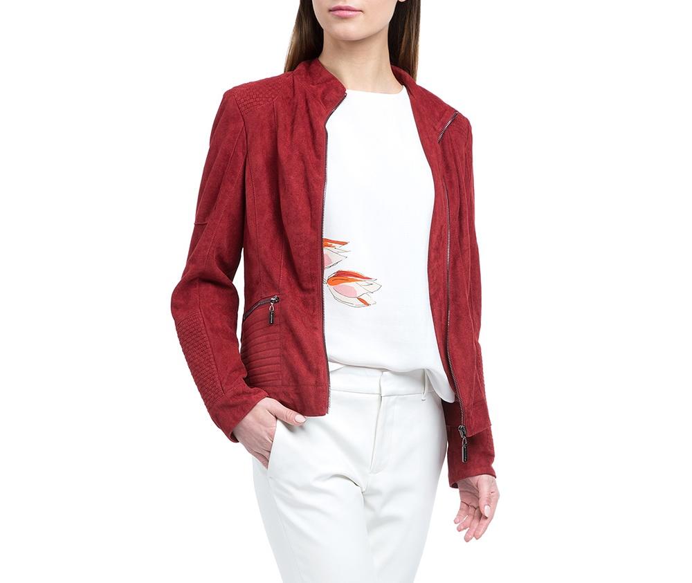 Куртка женскаяКуртка изготовлена ??из высококачественных материалов, которые обеспечивают комфорт. Модель на застегивается с помощью молнии, со стоячим воротником. Имеет два внешних кармана на молнии. Интересные швы на плечах и локтях добаляют неповторимый акцент.<br><br>секс: женщина<br>Размер INT: XXL<br>материал:: Полиэстер<br>подкладка:: полиэстер<br>примерная общая длина (см):: 55