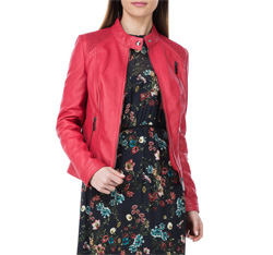 Kurtka damska, czerwony, 84-09-202-3-M, Zdjęcie 1