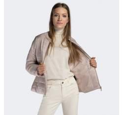 Damska kurtka pikowana ze stójką, jasny beż, 90-9N-401-9-XL, Zdjęcie 1