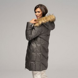 Women's down jacket, grey, 91-9D-401-8-S, Photo 1