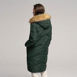 Damska kurtka puchowa z kominem, zielony, 91-9D-402-Z-2XL, Zdjęcie 1