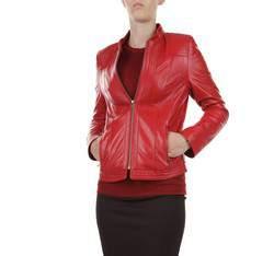 Kurtka damska, czerwony, 79-09-903-3-XL, Zdjęcie 1
