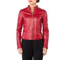 Kurtka damska, czerwony, 81-09-906-3-2X, Zdjęcie 1