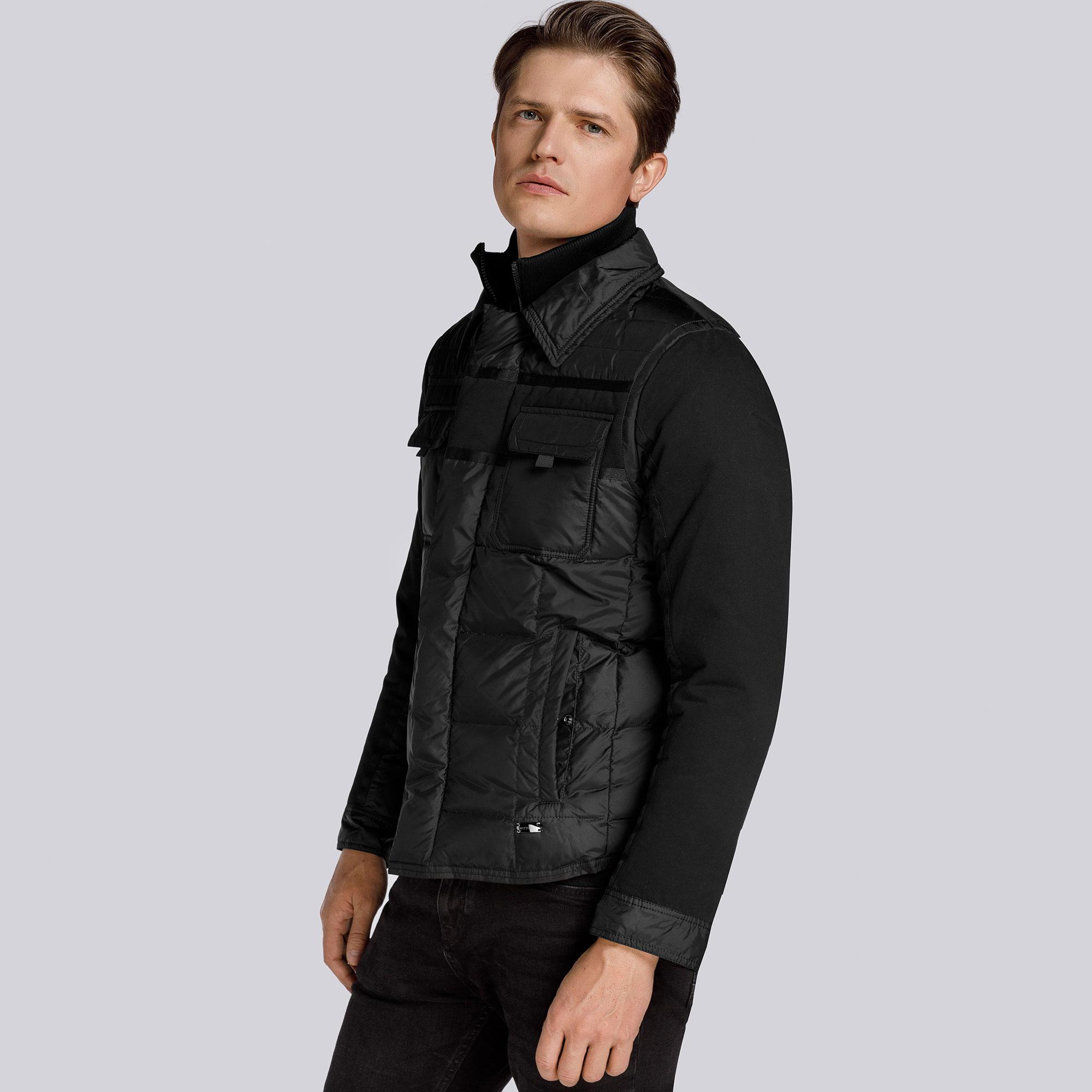 Куртка мужская Wittchen 85-9D-351-1, черныйКуртка мужская<br><br>секс: мужчина<br>Цвет: черный<br>Размер INT: XXXL<br>материал:: Полиэстер
