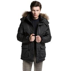 Men's jacket, black, 85-9N-353-1-M, Photo 1