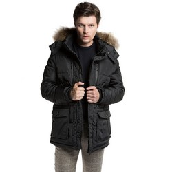 Men's jacket, black, 85-9N-353-1-S, Photo 1