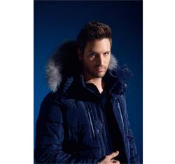 Men's jacket, navy blue, 85-9N-353-7-M, Photo 1
