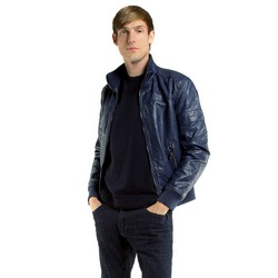 Men's jacket, navy blue, 85-9P-350-7-S, Photo 1