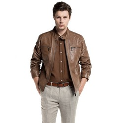 Men's jacket, brown, 86-09-250-5-M, Photo 1
