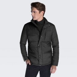 Men's jacket, black, 87-9N-451-1-M, Photo 1