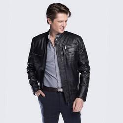 Men's jacket, black, 88-09-252-1-S, Photo 1