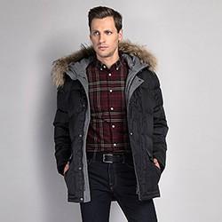Men's jacket, black, 89-9D-451-1-S, Photo 1