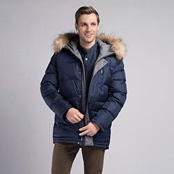 Men's jacket, navy blue, 89-9D-451-7-S, Photo 1