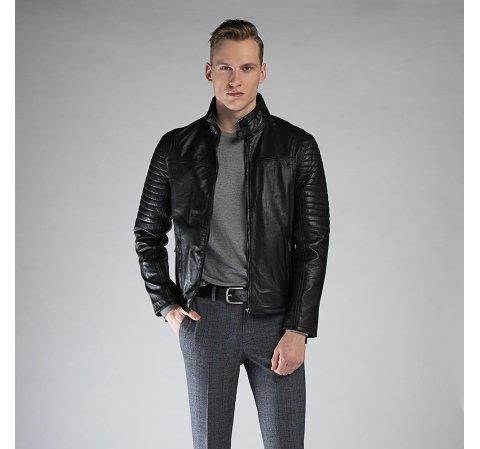 Kurtka męska, czarny, 90-09-252-1-XL, Zdjęcie 1
