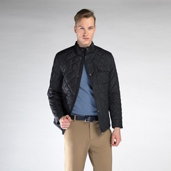 Męska kurtka pikowana, czarny, 90-9N-451-1-L, Zdjęcie 1