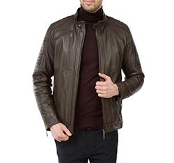 Men's jacket, brown, 83-09-550-4-XL, Photo 1