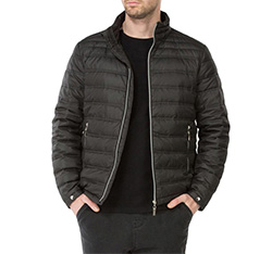 Men's jacket, black, 83-9D-352-1-S, Photo 1