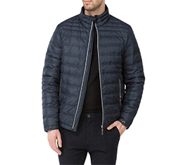Men's jacket, navy blue, 83-9D-352-7-S, Photo 1