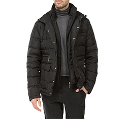 Men's jacket, black, 83-9D-354-1-S, Photo 1