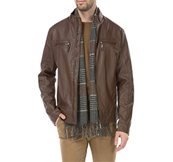 Men's jacket, brown, 83-9P-351-4-S, Photo 1