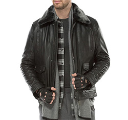 Men's jacket, black, 83-09-551-1-M, Photo 1