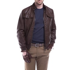 Men's jacket, brown, 84-9P-150-4-L, Photo 1