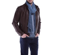 Men's jacket, brown, 84-9P-151-4-M, Photo 1