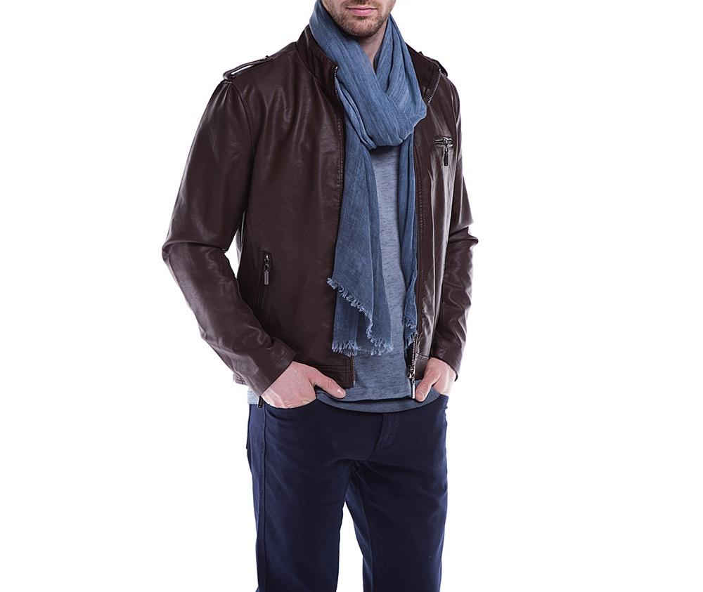 Куртка мужскаяКуртка мужская изготовлена из экологической, мягкой кожи. Модель застегивается на молнию. Имеет 4 кармана внешних - 2 на молнии и 2 открытых, а также 2 внутренних открытых кармана. кармана . Простой фасон куртки подойдет ко многим мужским стилям<br><br>секс: мужчина<br>Размер INT: XL