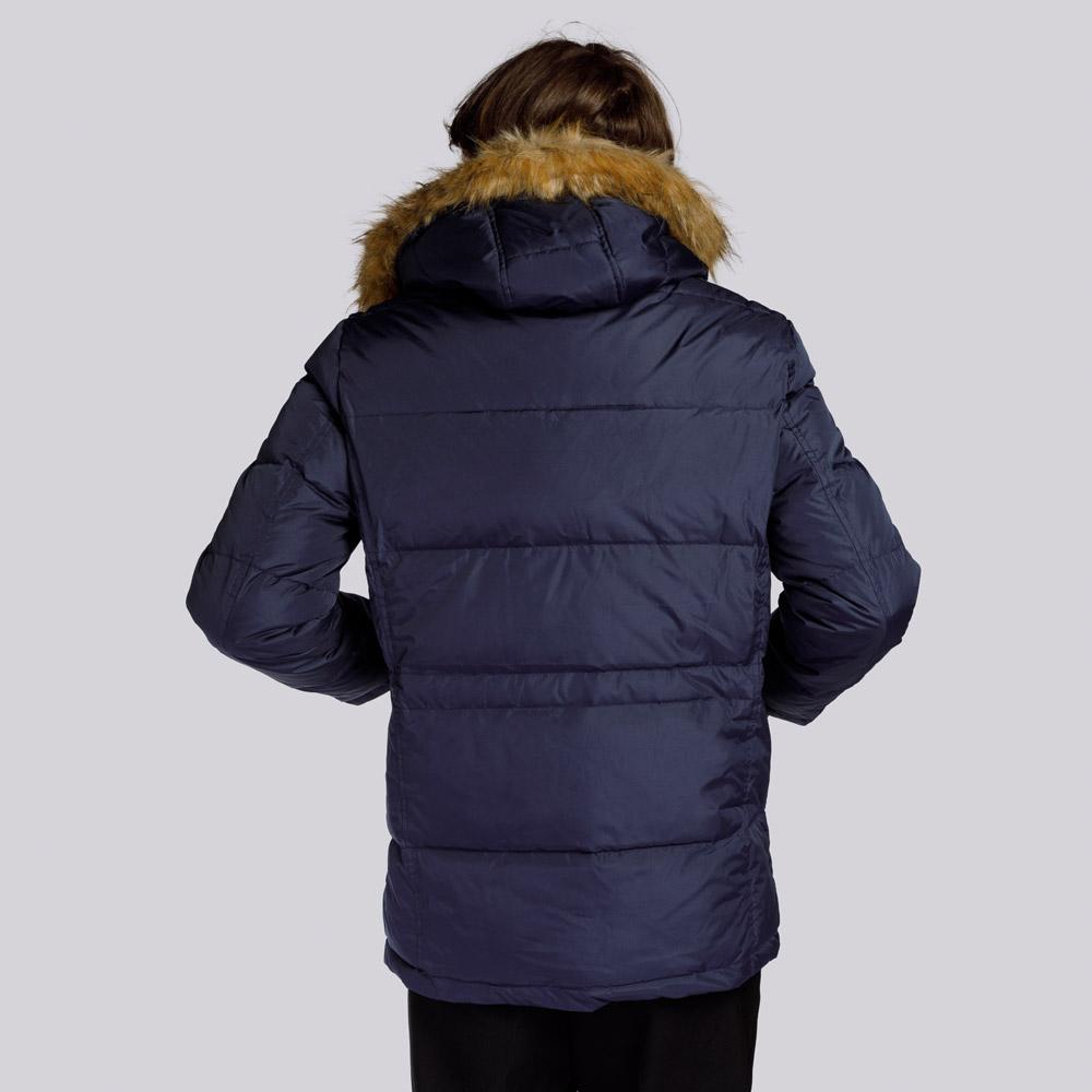 Men's hooded down jacket, navy blue, 91-9D-450-7-M, Photo 1