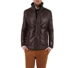 Men's jacket, dark brown, 79-09-958-4-2X, Photo 1