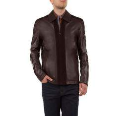 Men's jacket, dark brown, 79-09-950-4-XL, Photo 1