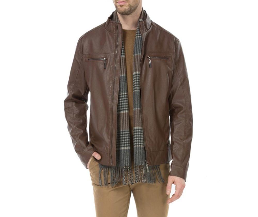 Куртка мужскаяМужская куртка изготовлена из экологической, мягкой кожи. Модель застегивается на молнию. Имеет 4 кармана внешних - 2 на молнии и 2 открытых, а также 2 внутренних открытых кармана. кармана . Простой фасон куртки подойдет ко многим мужским стилям<br><br>секс: мужчина<br>Цвет: коричневый<br>Размер INT: L<br>материал:: Экокожа<br>подкладка:: полиэстер<br>примерная общая длина (см):: 66