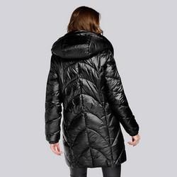 Damska kurtka pikowana długa, czarny, 93-9D-404-1-M, Zdjęcie 1