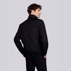 Męska kurtka harringtonka ze ściągaczami, czarny, 92-9N-451-1-3XL, Zdjęcie 1
