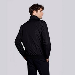 Męska kurtka harringtonka ze ściągaczami, czarny, 92-9N-451-1-S, Zdjęcie 1