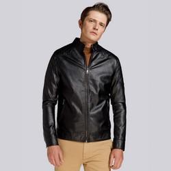 Męska kurtka oversize z pikowaniem, czarny, 93-9P-106-1-L, Zdjęcie 1