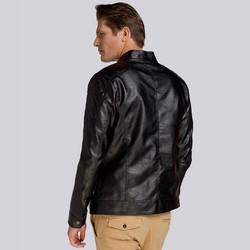 Męska kurtka oversize z pikowaniem, czarny, 93-9P-106-1-XL, Zdjęcie 1