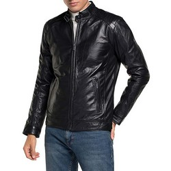 Men's racer jacket, black, 91-09-650-1-M, Photo 1