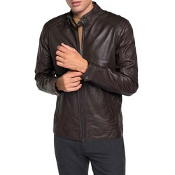 Men's racer jacket, brown, 91-09-650-4-M, Photo 1