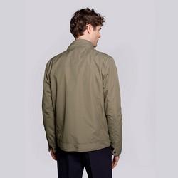 Męska kurtka wiatrówka z krytym zamkiem, khaki, 92-9N-450-Z-L, Zdjęcie 1