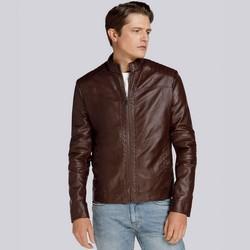 Męska kurtka z pikowaniem ocieplana, brązowy, 93-9P-104-4-S, Zdjęcie 1