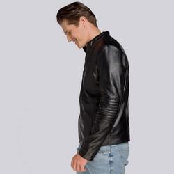 Męska kurtka z pikowaniem ocieplana, czarny, 93-9P-104-1-S, Zdjęcie 1